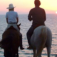 טיול סוסים רומנטי מול הים