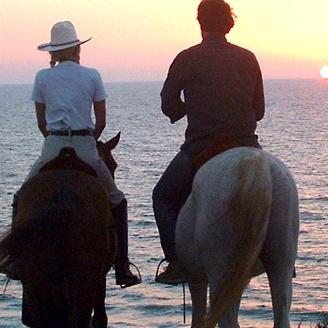 אטרקציות ביבשה - טיול סוסים רומנטי מול הים